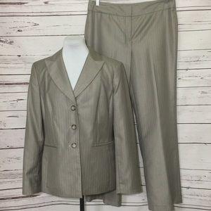Jones New York Pin Striped Herringbone Pant Suit